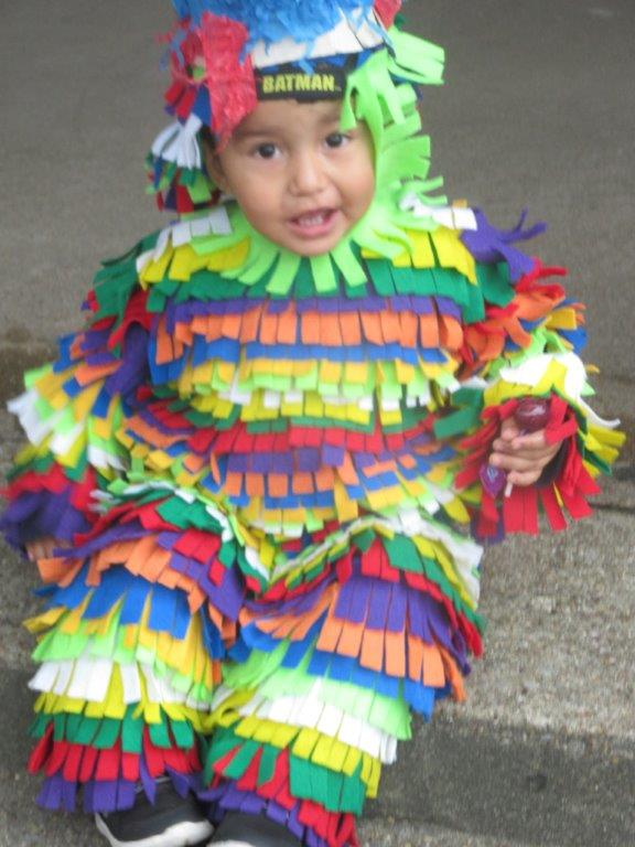 Child dressed as pinata