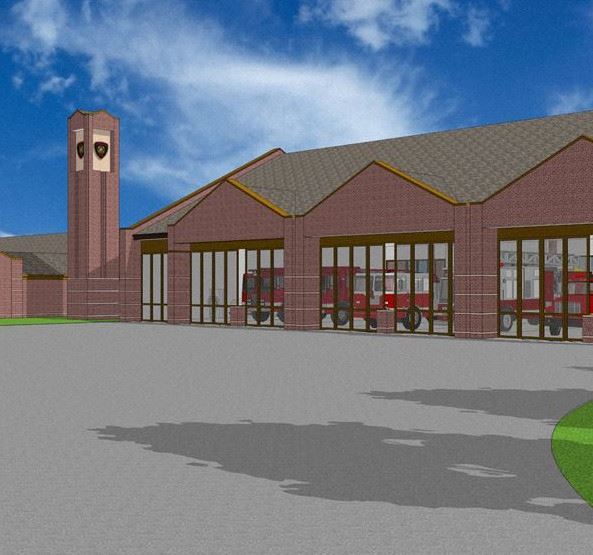 Central Fire Station Rendering