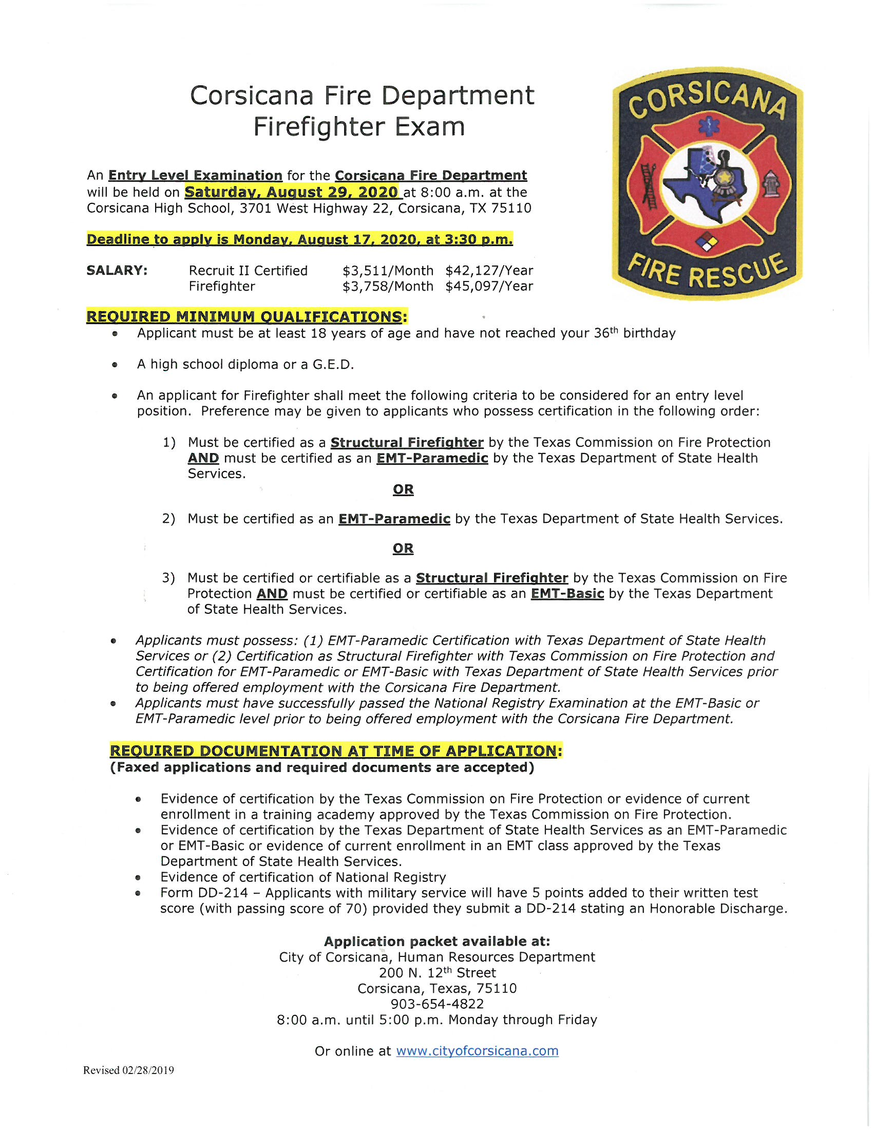 Aug. 29, 2020 Entry-Level Firefighter Test Posting and Pre-employment Application-3_Page_1