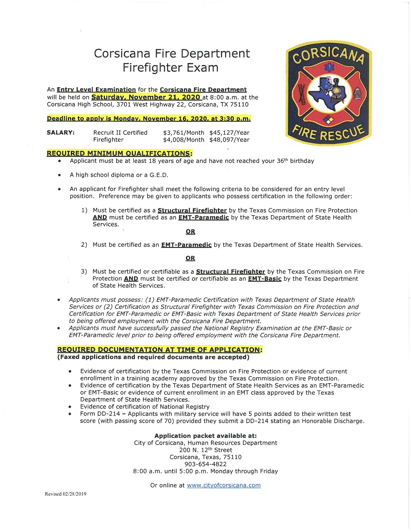 Nov. 21, 2020 Entry-Level Firefighter Test Posting and Pre-employment Application_Page_1