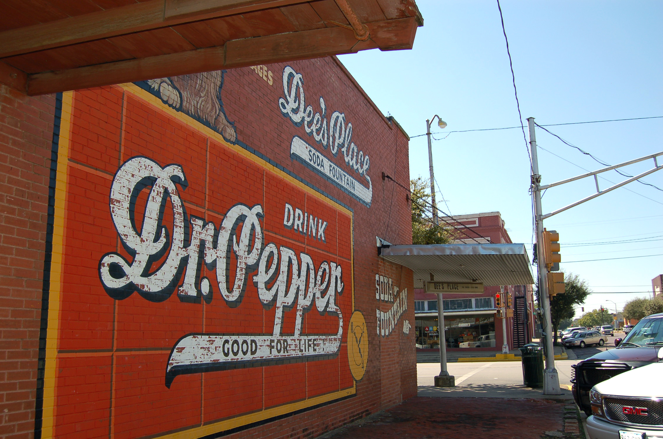 Dr. Pepper Mural at Dee's Place in Corsicana, TX
