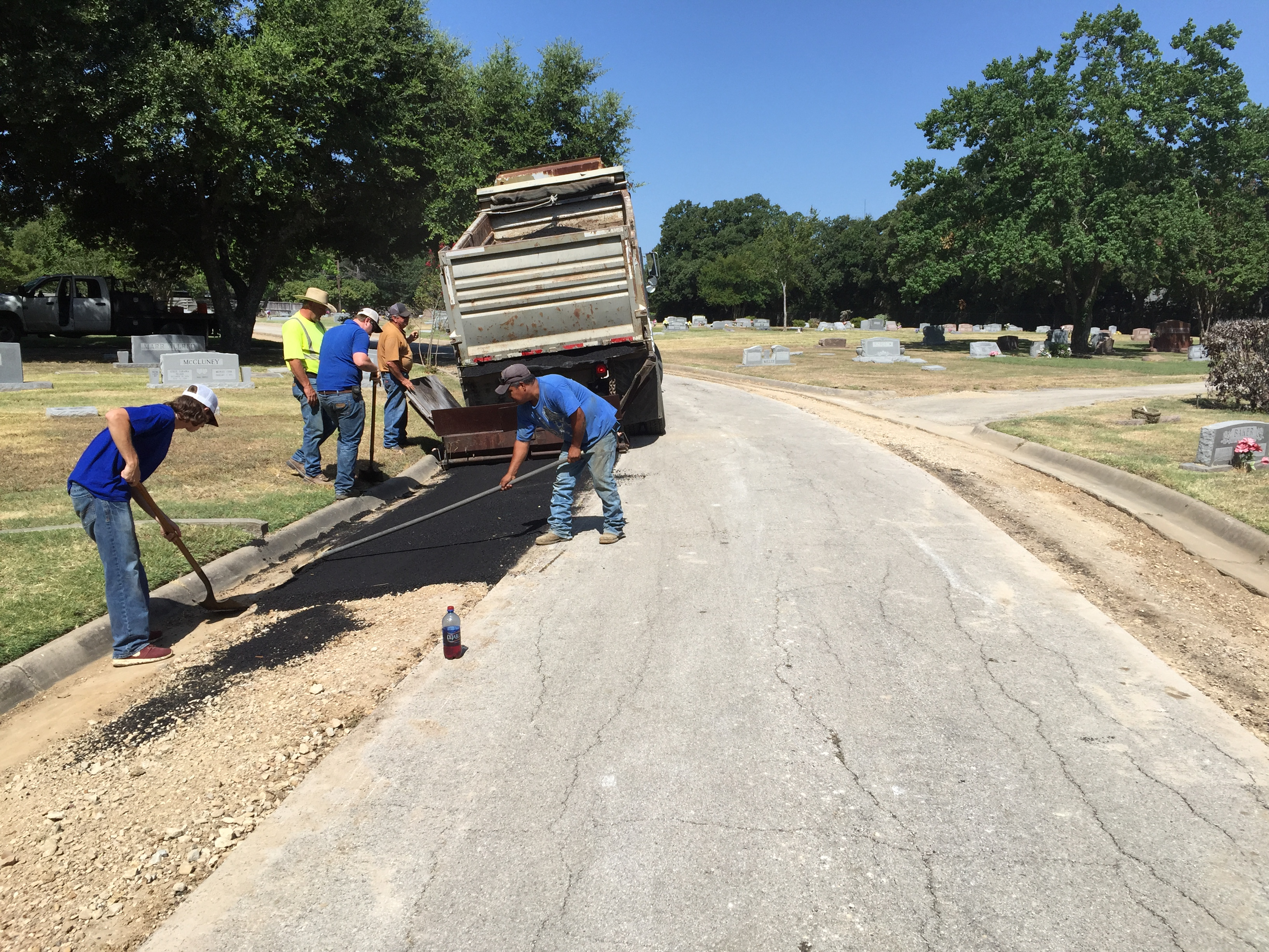 Street Repair at Oakwood Cemetery